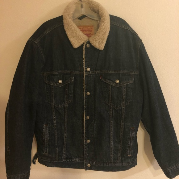 279c13d1ae Levi s Other - Levi s Sherpa Lined Men s Trucker Jean Jacket XL